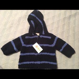 NWT Striped Hooded Fleece